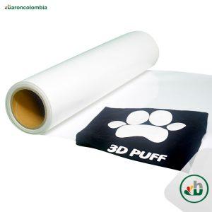 Vinilo Textil - 3D PUFF - Blanco - 50cm x 1,0 mt