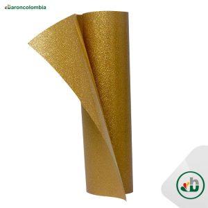 Vinilo Textil - Glitter o Escarchado - ORO - 50cm x 1,0 mt