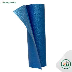 Vinilo Textil - Glitter o Escarchado - Neón Azul - 50cm x 1,0 mt