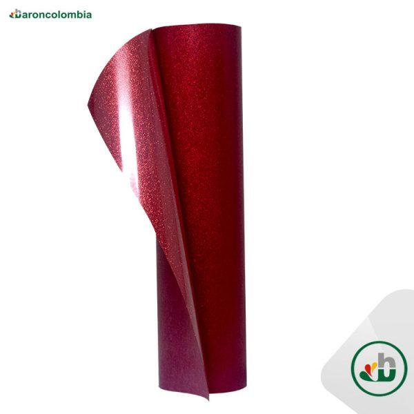Vinilo Textil - Glitter o Escarchado - Red  40186 - 50cm x 1,0 mt