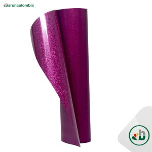 Vinilo Textil - Glitter o Escarchado - FUCHSIA - 50cm x 1,0 mt