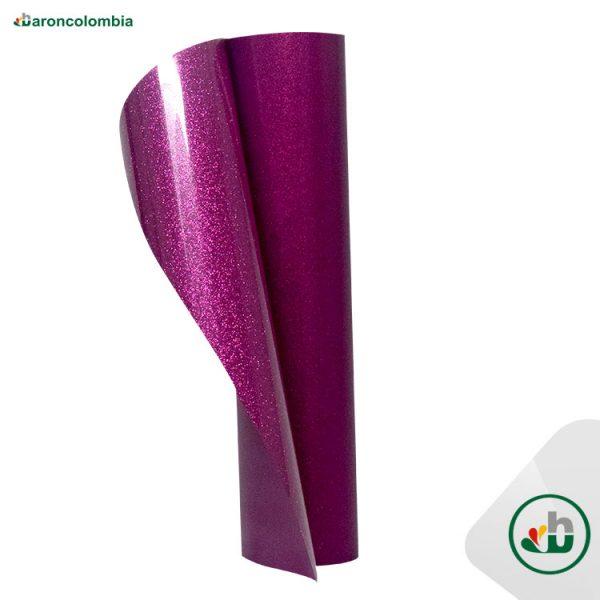 Vinilo Textil - Glitter o Escarchado - FUCHSIA - 50cm x 50cm