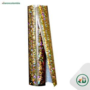 Vinilo Textil - Holográfico - Gold - 50cm x 1,0 mt