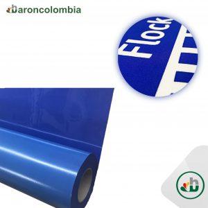 Vinilo Textil - Flock Gamuzado - Azul Royal  40165 - 50cm x 1,0 mt