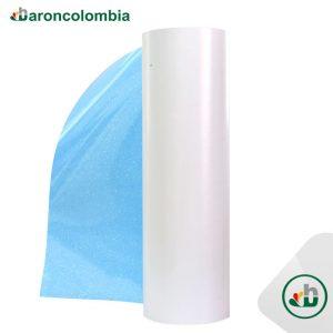 Vinilo Textil - Glitter o Escarchado - Aqua - 50cm x 1,0 mt