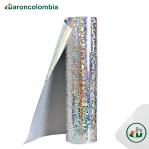 Vinilo Textil - Holográfico - Silver - 50cm x 1,0 mt