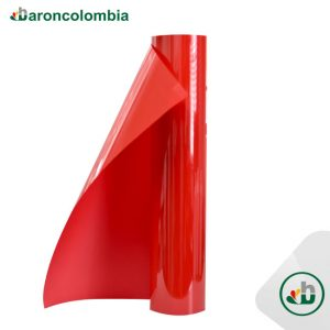 Vinilo Textil - PU - Rojo  40154 - 50cm X 1,0 mt